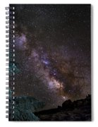 Milkyway At The Mountains Spiral Notebook
