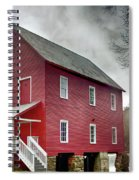 Mill At Whitewater Cree Spiral Notebook