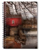 Mill - Clinton Nj - The Mill And Wheel Spiral Notebook