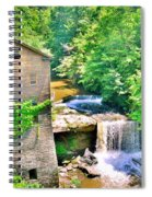 Mill Creek Park Lanterman's Mill And Covered Bridge Spiral Notebook