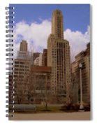 Millenium Park And Bench 1 Spiral Notebook