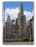 Millenium Park And Bench 2 Spiral Notebook