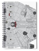 Millennium Falcon II Spiral Notebook