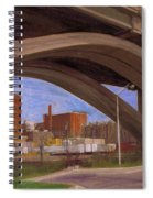 Miller Brewery Viewed Under Bridge Spiral Notebook