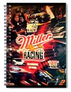 Miller Racing Sign 25th Year Spiral Notebook