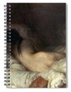 Millet: Reclining Nude Spiral Notebook