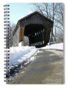 Millrace Park Old Covered Bridge - Columbus Indiana Spiral Notebook