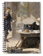 Milton And Galileo, 1638-39 Spiral Notebook
