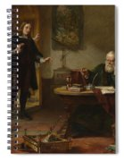 Milton Visiting Imprisoned Galileo Spiral Notebook