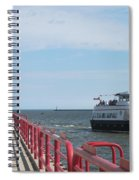 Milwaukee Harbor And Boat Spiral Notebook
