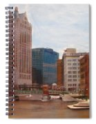 Milwaukee River View Spiral Notebook