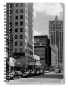 Milwaukee Street Scene B-w Spiral Notebook
