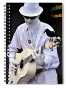 Mime And Guitar Spiral Notebook