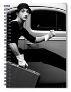 Mime Running Along Side Of Classic Hot Rod Spiral Notebook