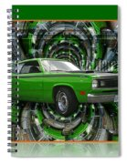 Mind Blown Duster Abstract Spiral Notebook