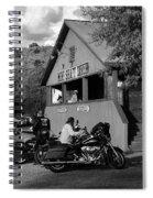 Mine Shaft Bikers Spiral Notebook