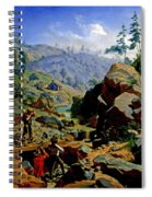 Miners In The Sierras Spiral Notebook