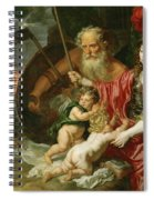 Minerva And Saturn Protecting Art And Science From Envy And Lies  Spiral Notebook