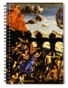 Minerva Chasing The Vices From The Garden Of Virtue 1502 Spiral Notebook