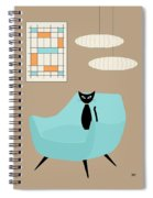 Mini Abstract With Blue Chair Spiral Notebook