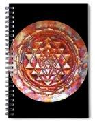 Mini Sri Yantra Kupfer Lichtmandala  Spiral Notebook