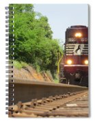 Mini Train Moves Down The Track Spiral Notebook