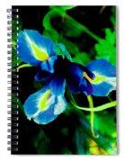 Miniature Blue Iris Spiral Notebook