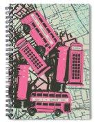 Miniature London Town Spiral Notebook