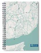 Minimalist Artistic Map Of Lisbon, Portugal 3a Spiral Notebook