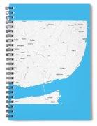 Minimalist Artistic Map Of Lisbon, Portugal 4a Spiral Notebook