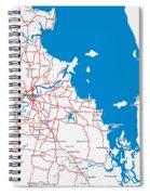 Minimalist Modern Map Of Brisbane, Australia 6 Spiral Notebook