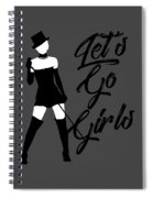Minimalist Shania Twain Let's Go Girls Spiral Notebook