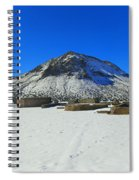 Mining Ruins Foreground A Snowy Mountain Spiral Notebook