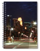 Minneapolis From The Stone Arch Bridge Spiral Notebook