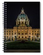 Minnesota Capital At Night Spiral Notebook