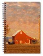 Minnesota Farm At Sunset Spiral Notebook