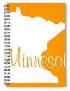 Minnesota In White Spiral Notebook
