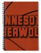 Minnesota Timberwolves Leather Art Spiral Notebook