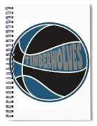 Minnesota Timberwolves Retro Shirt Spiral Notebook