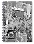 Mint Julep In Grayscale Spiral Notebook