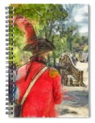 Minuteman And Redcoat Concord Ma Pencil Spiral Notebook