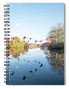 Mirrored Formation Spiral Notebook