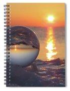 Mirrored Sunrise Spiral Notebook