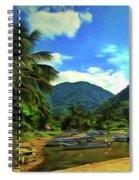 Mismaloya River Fishing Boats 0344 Spiral Notebook