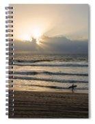 Mission Beach Surfer Spiral Notebook