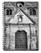Mission Concepcion Entrance - Bw Spiral Notebook
