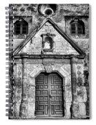 Mission Concepcion Front - Classic Bw Spiral Notebook