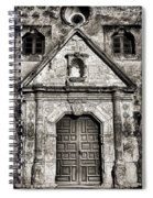 Mission Concepcion - Bw Toned Border Spiral Notebook
