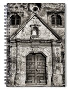 Mission Concepcion Front - Toned Bw Spiral Notebook
