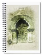 Mission Espada Chapel Door Spiral Notebook